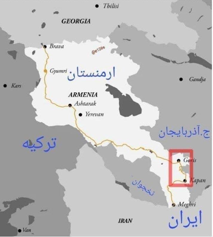 نقشه محل اختلاف ایران و آذربایجان