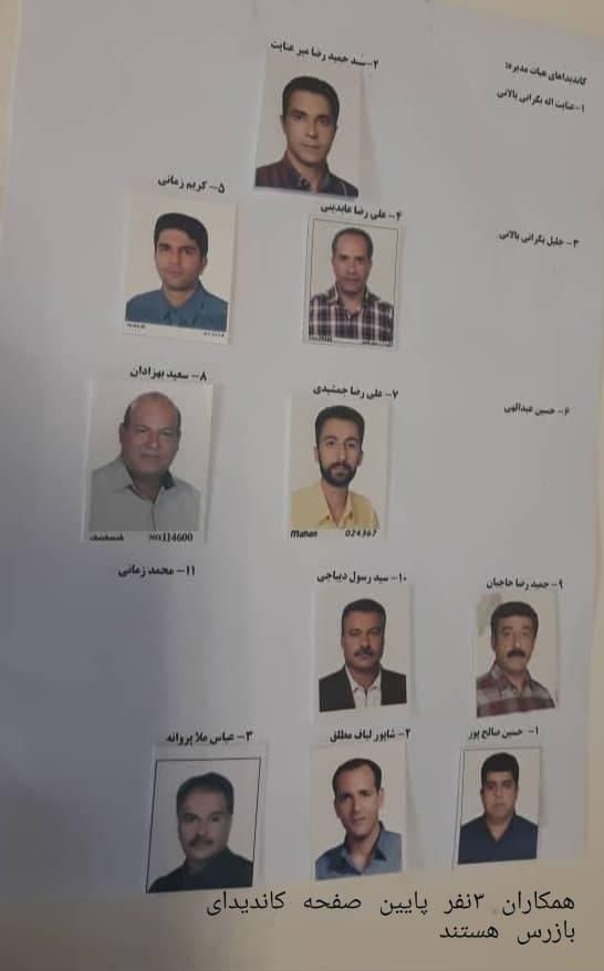 کاندیداهای هیئت مدیره و بازرسین انجمن رانندگان اصفهان