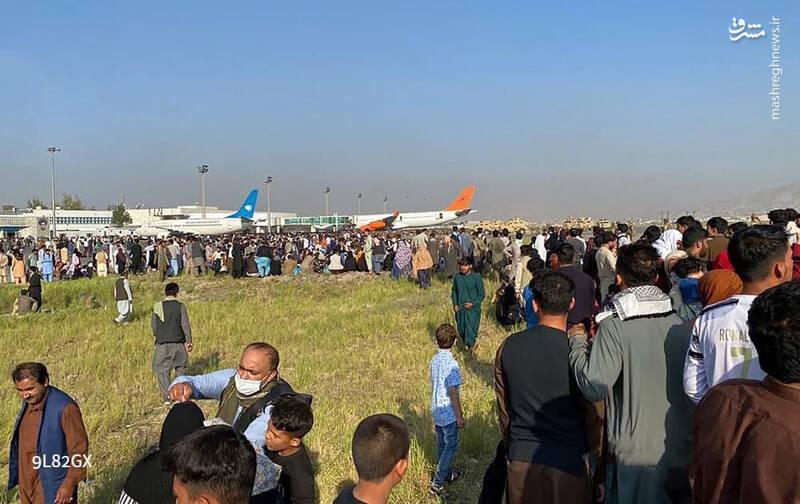 هجوم مردم افغانستان به فرودگاه کابل