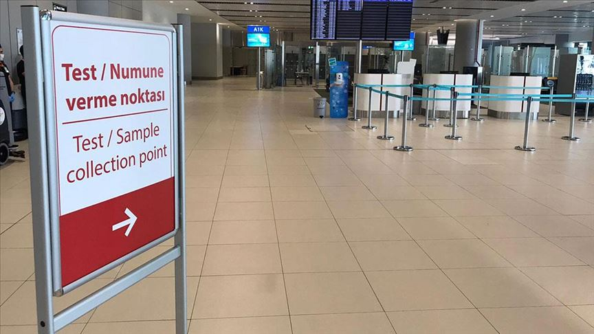 تست کرونا در فرودگاه ترکیه