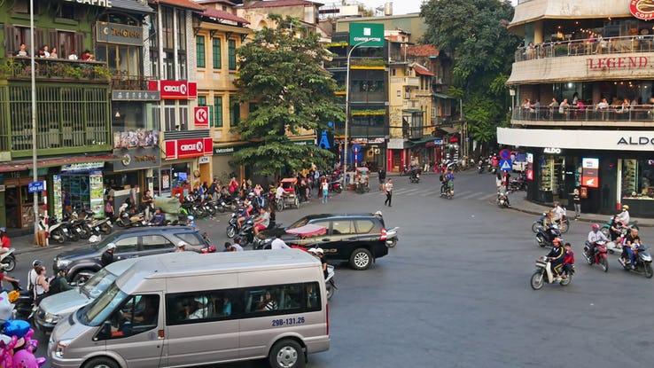 Ha Noi Intersection- Hanoi_ Vietnam