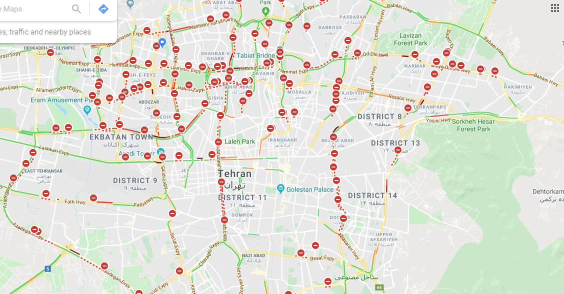 نقشه ترافیکی