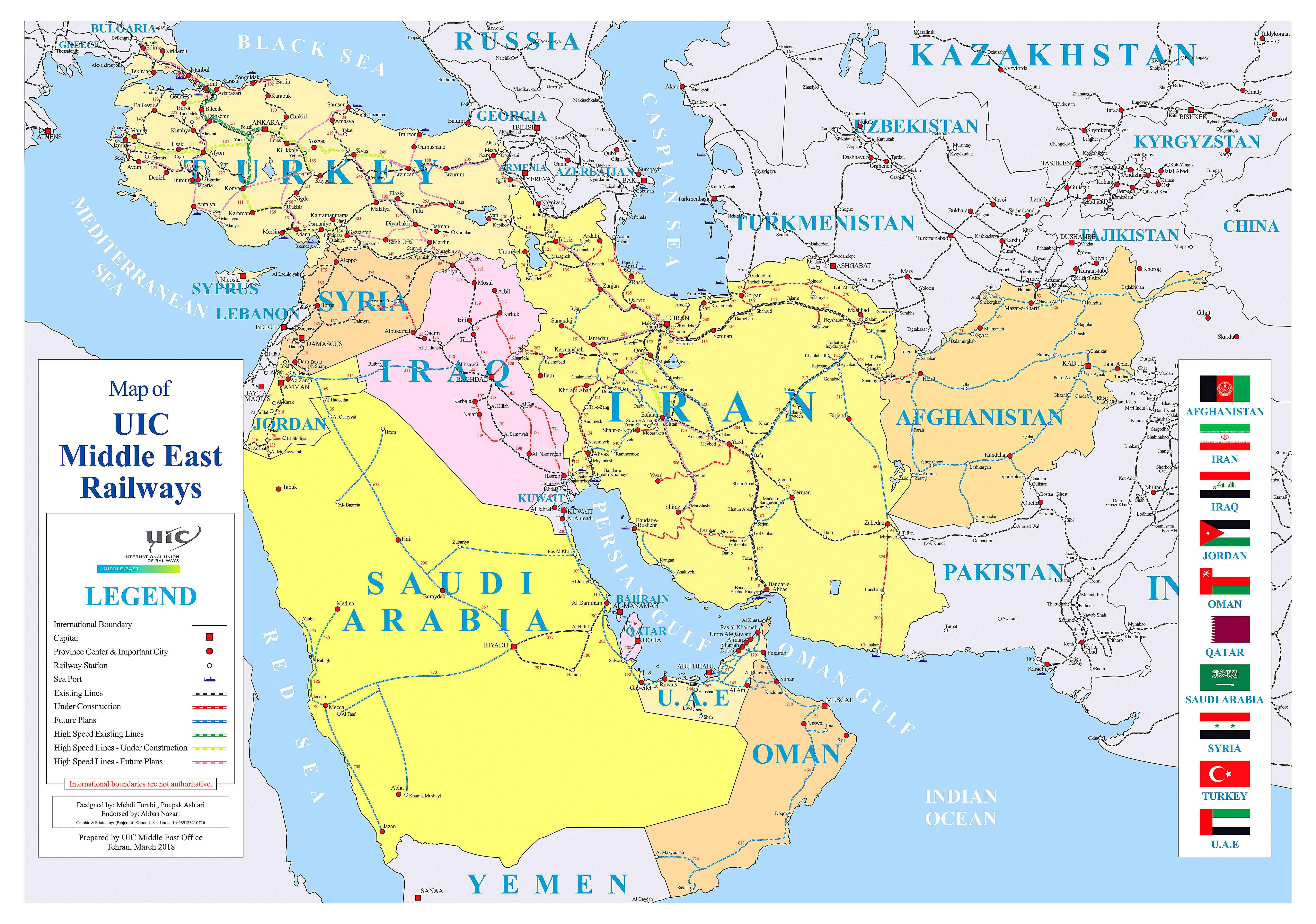 New Middle East railways