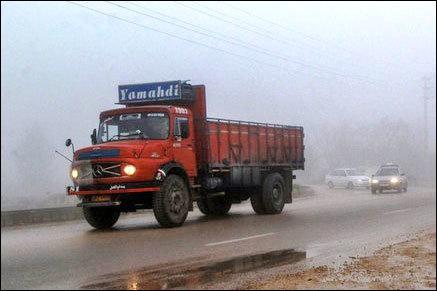 مفقود شدن راننده در پی حمله سارقان به یک کامیون + عکس