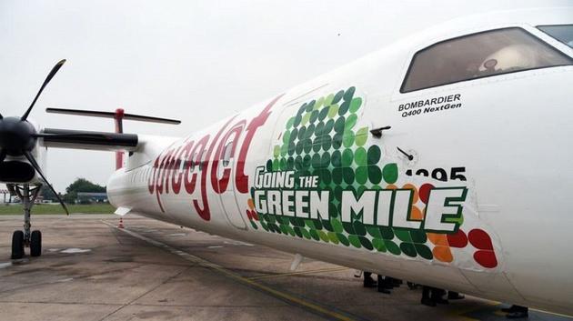 Spicejet Operates India's First Bio-Fuel Flight