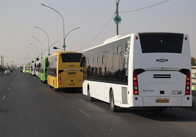 ۲۳۳ دستگاه اتوبوس برای انتقال زائران گلستانی به مرز مهران تدارک دیده شده است