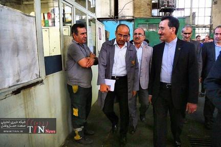 دیدار سعید رسولی با کارگران کارخانجات تعمیرات اساسی لکوموتیو و قطارها