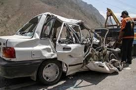 واژگونی یک دستگاه سواری پراید در محور قزوین-تهران