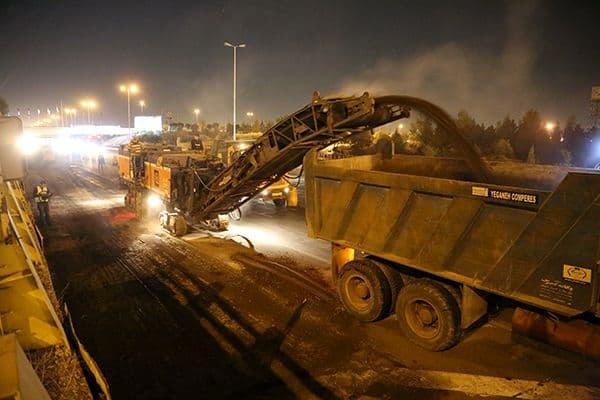 مرمت و رفع بیش از ۸۱۰۰ نقطه از عوارض خرابی سطح معابر شهر تهران