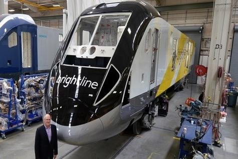 Brightline unveils Siemens locomotives and coaches