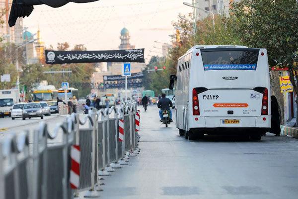 حملونقل عمومی مشهد تعطیل نشد