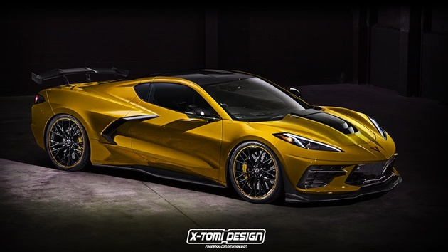 2020 Corvette Stingray Already Gets ZR1 Treatment In New Rendering