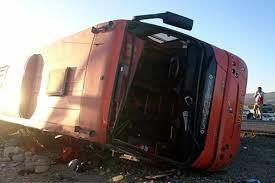 تصادف اتوبوس در آزادراه تهران-قزوین ۸ مصدوم برجا گذاشت