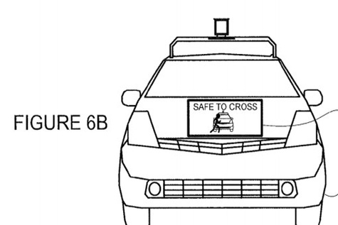 A new patent reveals how Googles self driving cars could talk to pedestrians