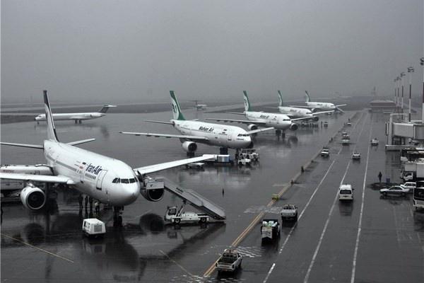 کاهش 87 درصد پروازهای بین المللی در 7 ماهه ابتدایی سال جاری