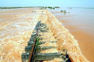 خسارت ۱۷۹ میلیاردی سیل به ۱۱۱ کیلومتر خط آهن و زیرسازی و ابنیه+جدول