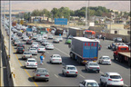 ترافیک سنگین صبحگاهی در آزادراه کرج -تهران
