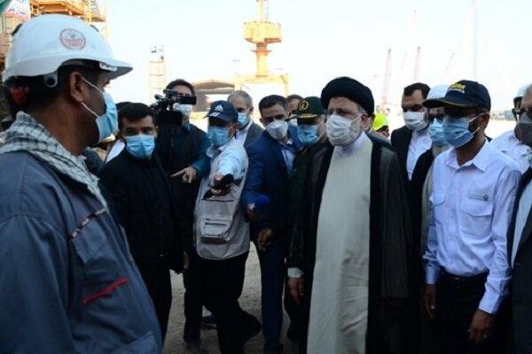 رئیس جمهور از شرکت صنایع دریایی ایران بازدید کرد