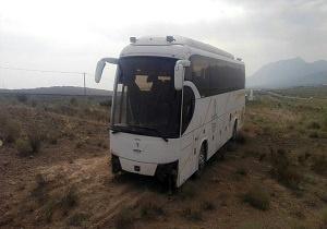 انحراف اتوبوس در جاده میامی _ شاهرود