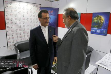 بازید مدیر عامل راه آهن از غرفه تین نیوز در نمایشگاه ریلی