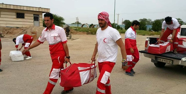اعزام 3 تیم امداد سیلاب جمعیت هلالاحمر به خوزستان