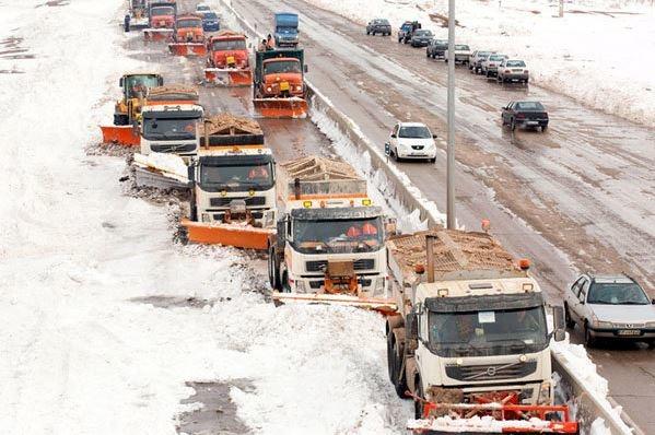 آمادگی راهداری البرز برای مقابله با بارش برف