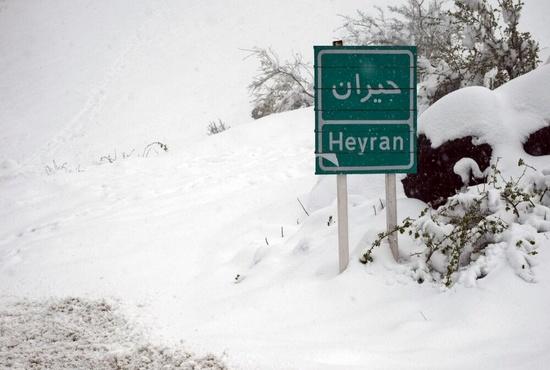 تصاویر| بارش 40 سانتیمتری برف در گردنه حیران