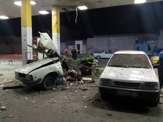 انفجار خودرو حین سوختگیری در اهواز