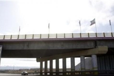 پل روگذر بلوار کردستان شهر سقز افتتاح شد