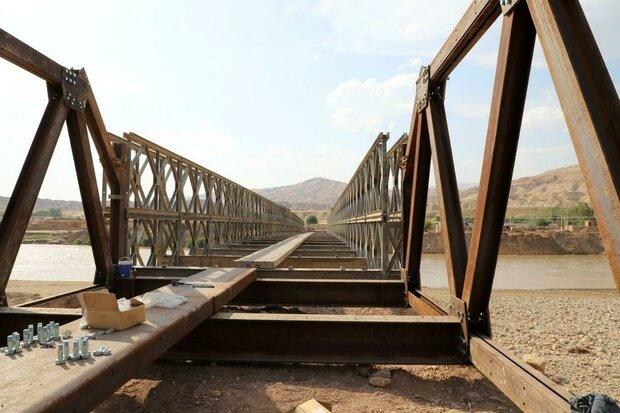 برقراری تردد در پل روستای «چم مهر» تا پایان هفته جاری