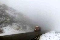 کولاک و مه غلیظ در جاده های زنجان حاکم است