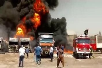 فیلم| سقوط تانکر سوخت و مرگ راننده