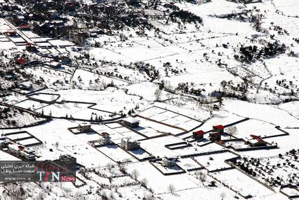 تصاویر هوایی از مناطق روستایی و ییلاقی مازندارن پس از بارش سنگین برف