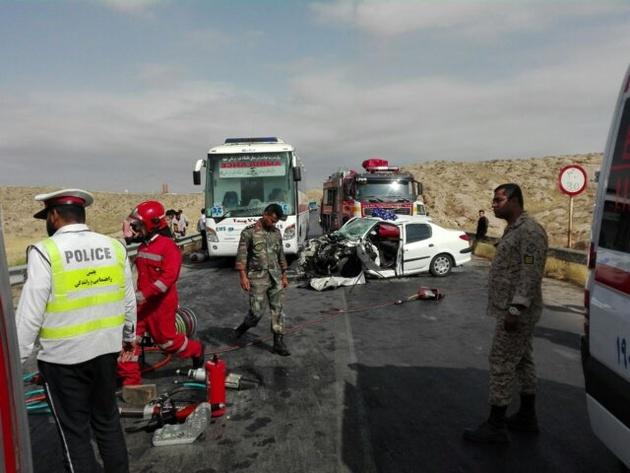 سه کشته و ۶ زخمی در تصادف ۲۰۶ با وانت مزدا در جاده قدیم مشهد-نیشابور