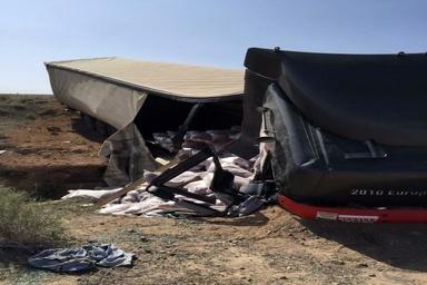 حمله اشرار مسلح به یک راننده کامیون + فیلم و عکس