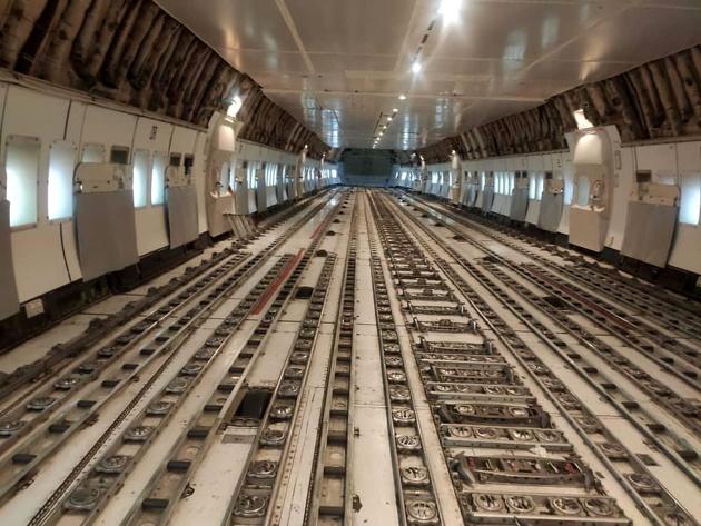 پایان اورهال هواپیمای ۷۴۷ باری توسط متخصصان فنی هما