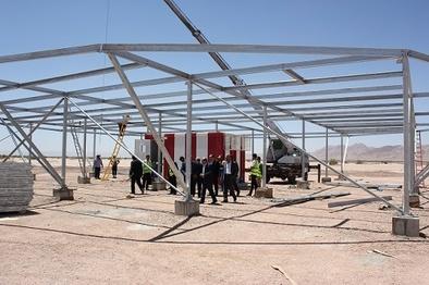 بازدید مدیرکل ارتباطات از پروژه نصب DVOR فرودگاه