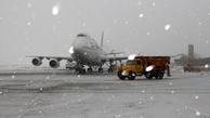 برقراری پروازهای فرودگاه کرمانشاه با وجود بارش برف