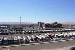 فیلم| صف چند کیلومتری و وضعیت دشوار کامیونها در ورودی گمرک دوغارون
