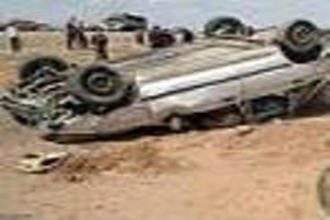 کشته و مجروح شدن ۲۱ تبعه خارجی غیرمجاز در تصادف محور خاش - سراوان