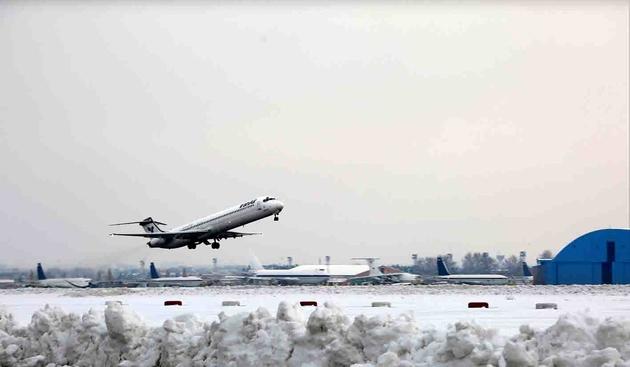 تدابیر فرودگاه مهرآباد جهت آمادگی برای برقراری پروازهای ایمن زمستانی