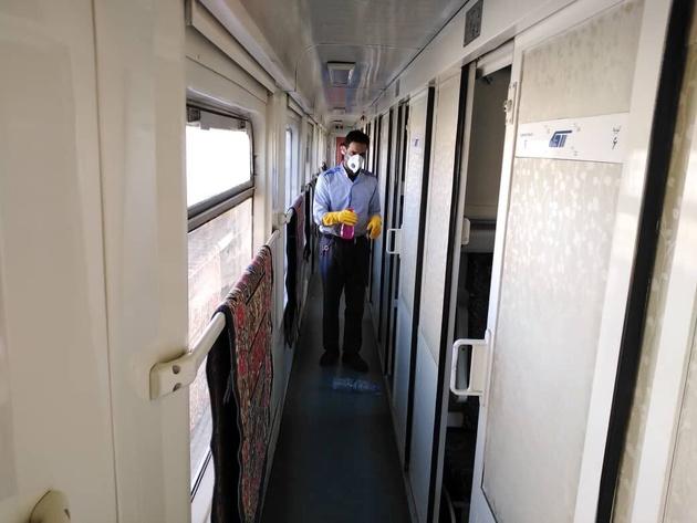 ناوگان راهآهن فارس به طور مداوم ضدعفونی میشود