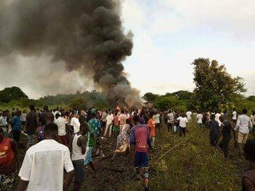 سقوط هواپیمای باری در جنوب سودان