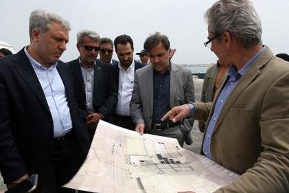 گزارش تصویری / بازدید وزیر راه و شهرسازی از پروژههای عمرانی جزیره کیش