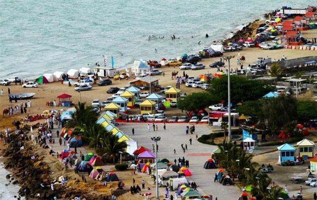 افزایش دوبرابری گردشگران در سواحل مکران نسبت به سال گذشته
