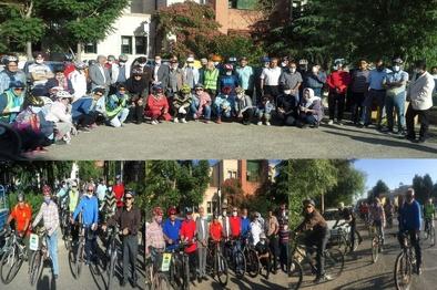 همایش دو چرخه سواری به مناسبت هفته محیط زیست