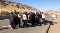 عکس/ بستن جادههای سرپل ذهاب توسط روستاییان به نشانه اعتراض