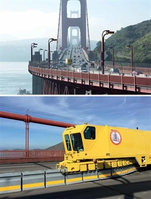 Golden Gate Bridge and Lindsay Road Zipper