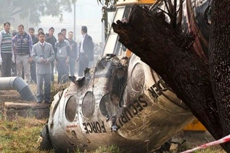 Indian Border Security Force aircraft crashes outside IGI airport killing ten