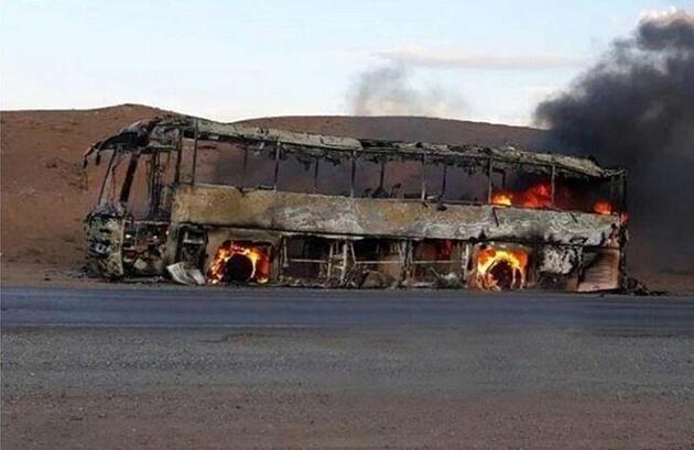 علت آتشسوزی اتوبوس یزد – مشهد در دست بررسی